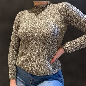 Advance Grey and White Speckled Sweater Size S